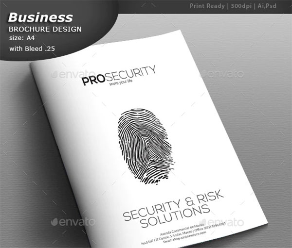Security A4 Brochure Design
