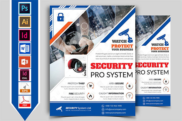 Security System Flyer and Brochure