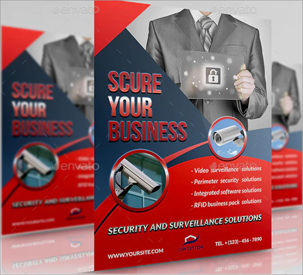Security System PSD Flyer Template