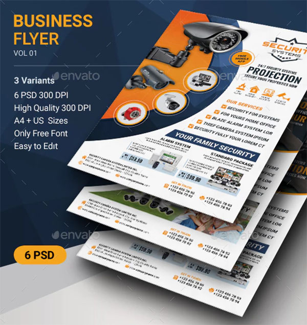 Security Systems Flyer PSD