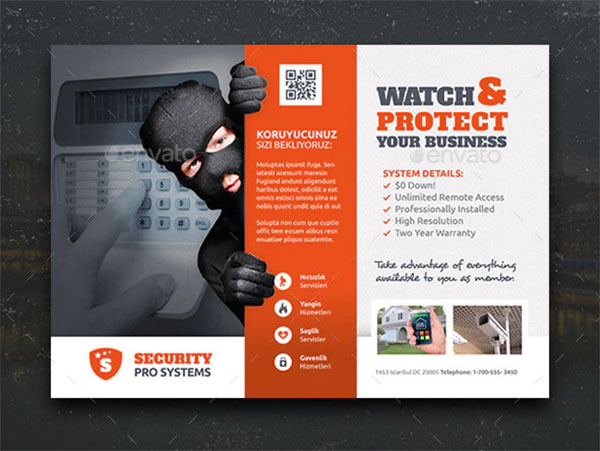Security Systems Flyer Templates PSD