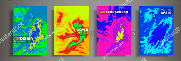 Set of Modern Abstract Painting Brochure Templates