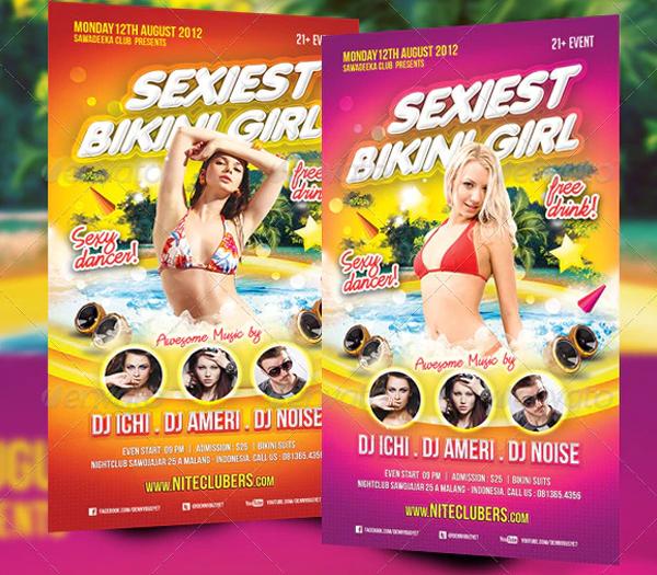Sexiest Bikini Girl Flyer Template