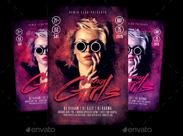 Sexy Girls Flyer Templates
