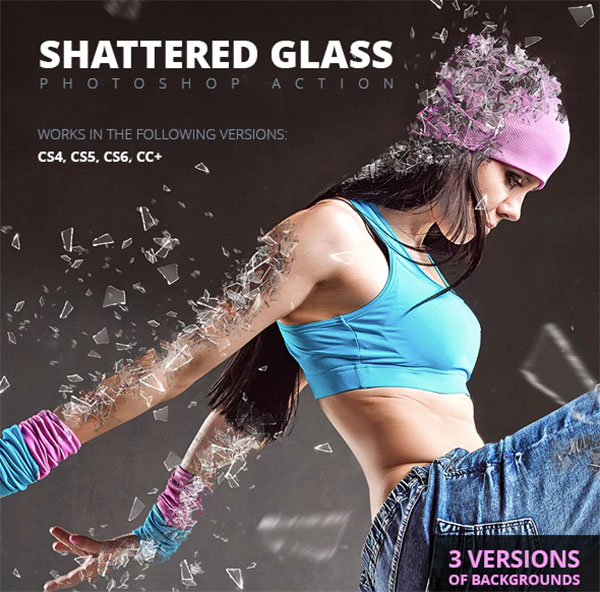 Shattered Glass Photoshop Action