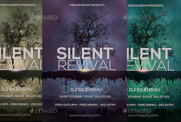 Silent Revival Flyer Templates