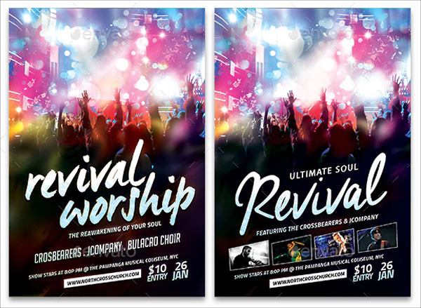Simple Revival Church Flyer Template