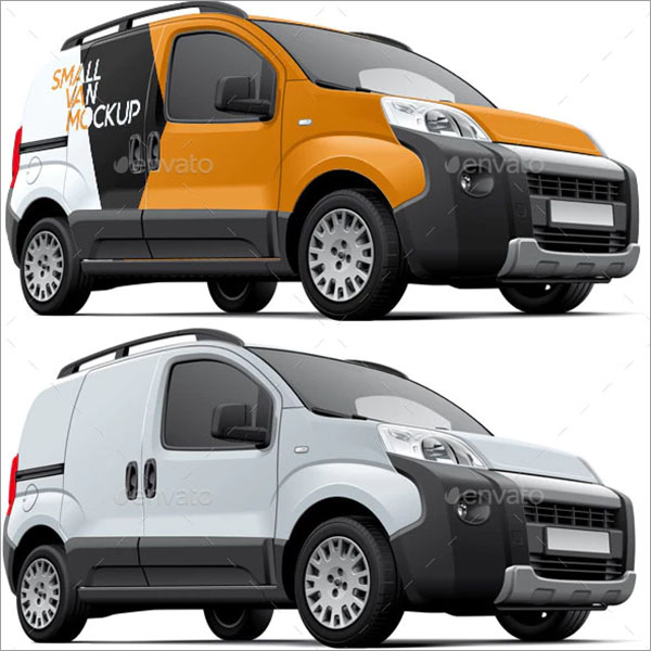 Small Commercial Vehicle Mockup