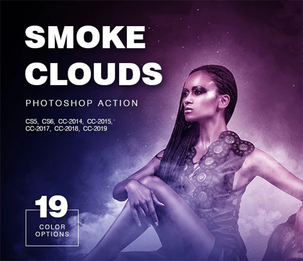 Smoke Clouds Photoshop Action