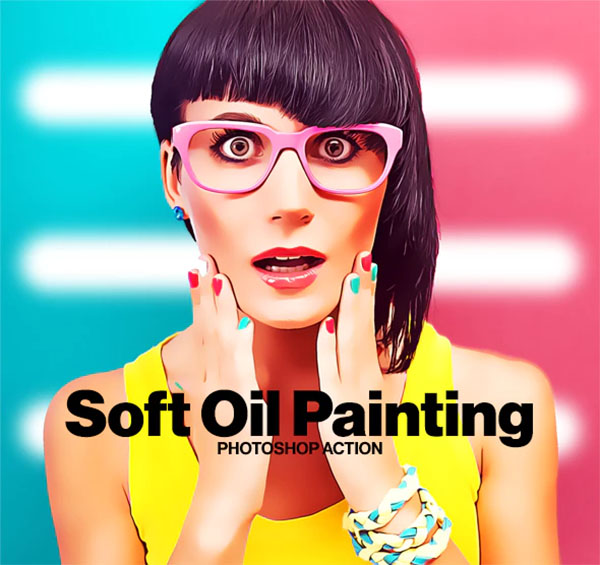 Soft Oil Painting Photoshop Action