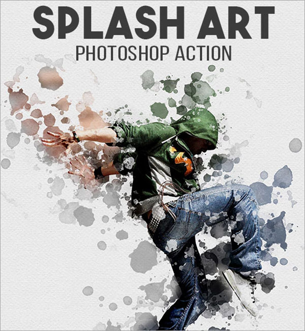 Splash Art PSD Action Design