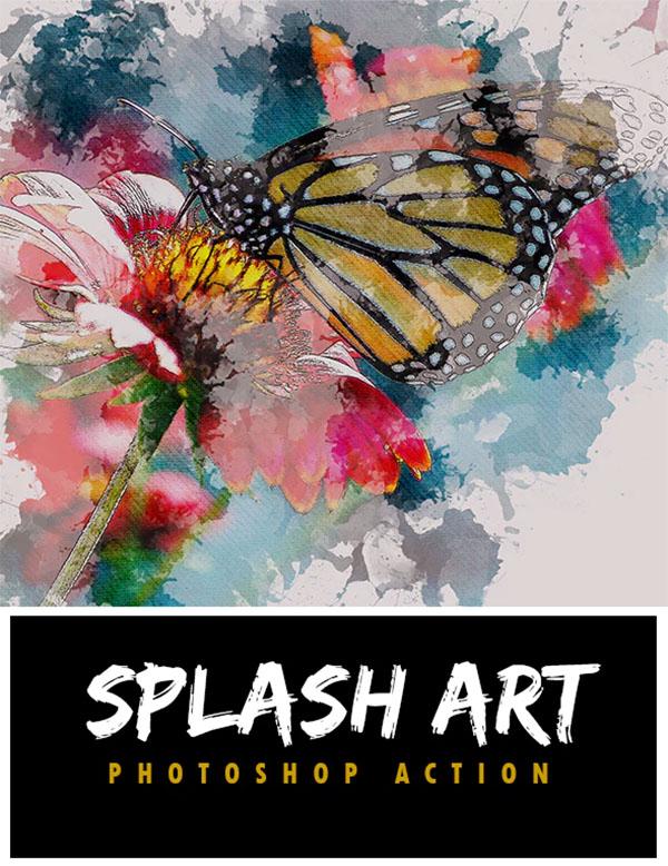 Splash Art Photoshop Action Design