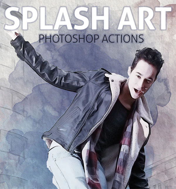Splash Art Photoshop Actions Design