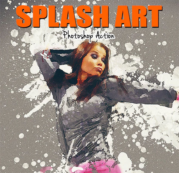 Splash Art Photoshop Design Action