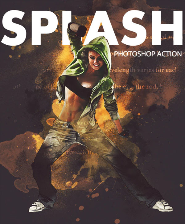 Splash Photoshop Action Design