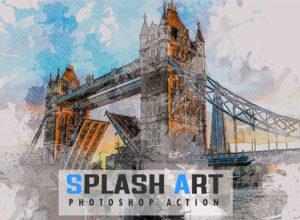 Splash Photoshop Actions