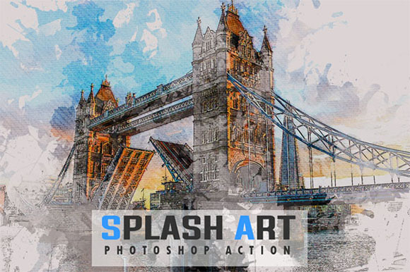 Splash Photoshop Actions