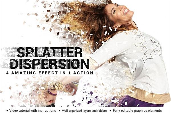 Splatter Dispersion Photoshop Action