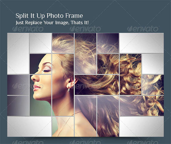 Split It Up Photo Frame Template