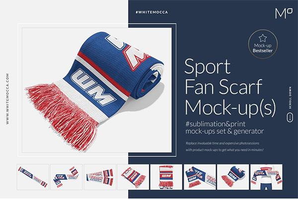 Sports Fan Scarf Mock-ups Generator