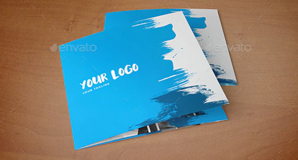 Square Cool Painting Brochure Templates