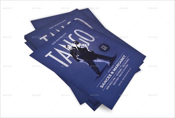 Tango Dance Flyer Design Template