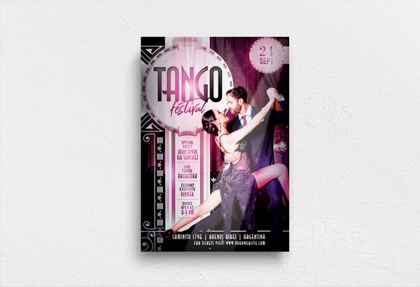 Tango Festival Flyer Printable Template