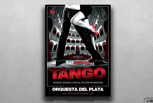 Tango Flyer and Poster Template