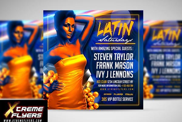 Tango Latin Night Flyer Templates