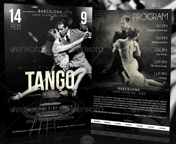 Tango Night Flyer Template