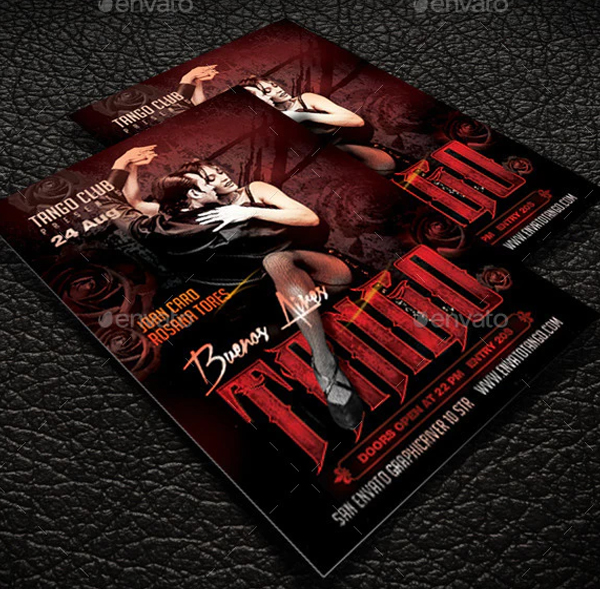 Tango Party Flyer Design Template