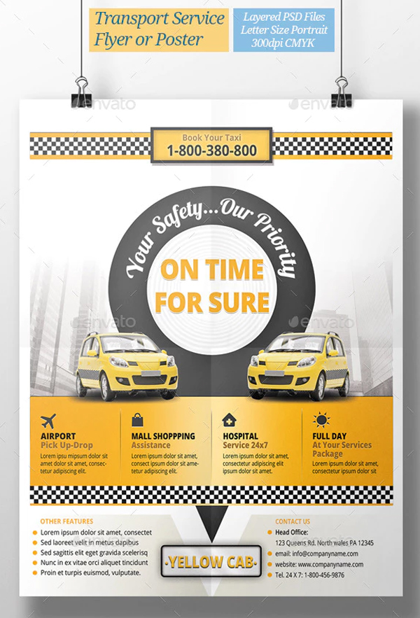 Taxi Transport Service Flyer or Poster