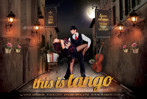 This Is Tango Flyer Templates