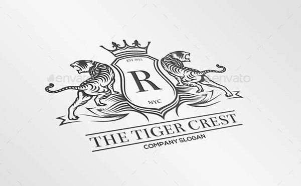 Tiger Crest Logo Design
