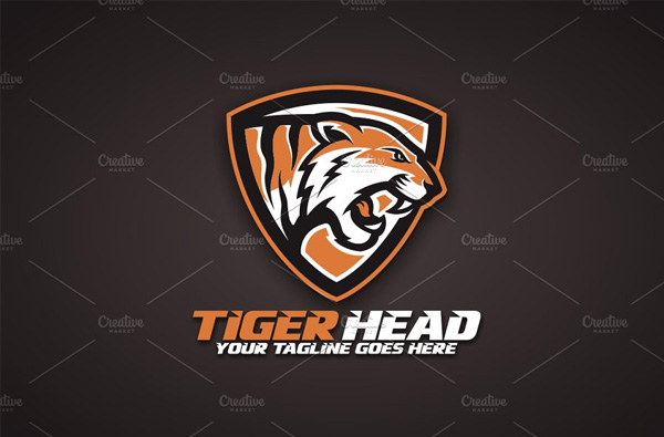 Tiger Head Logo Designs