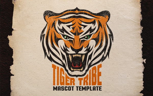 Tiger Logo Printable Template