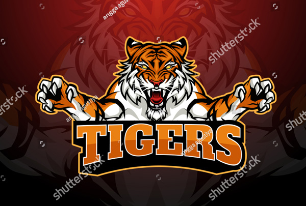 Tiger Sports Mascot Logo Design Template