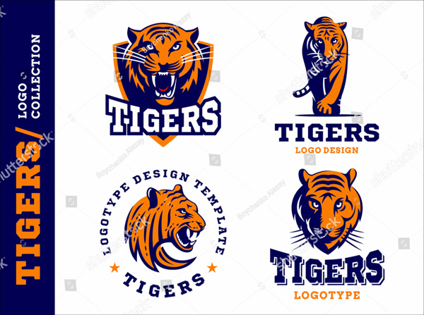 Tigers logo Illustration Template