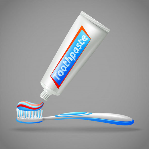Toothbrush and Toothpaste Free Mockup