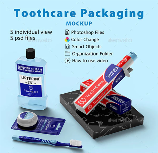 Toothcare Packaging Mockup