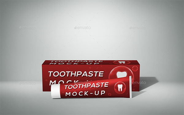 Toothpaste Mock-Up Set