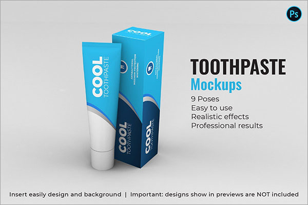 Toothpaste Mockups 9 Poses