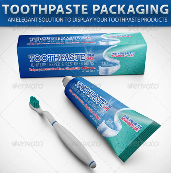 Toothpaste PSD Packaging Mockup