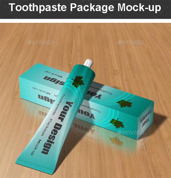 Toothpaste Package Mock-up