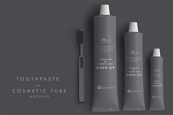 Toothpaste or Cosmetic Tube Mockup