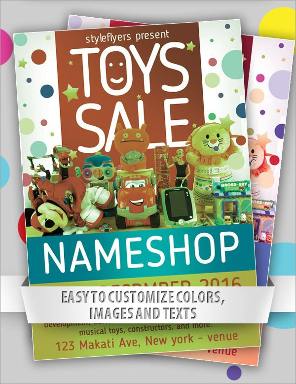 Toys Sale Free PSD Flyer Template