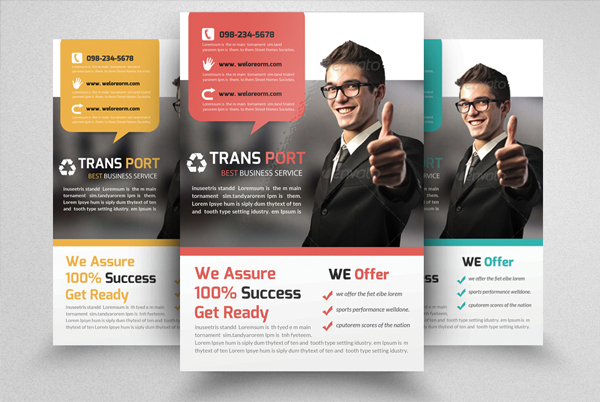 Transport Agency Business Flyer Templates