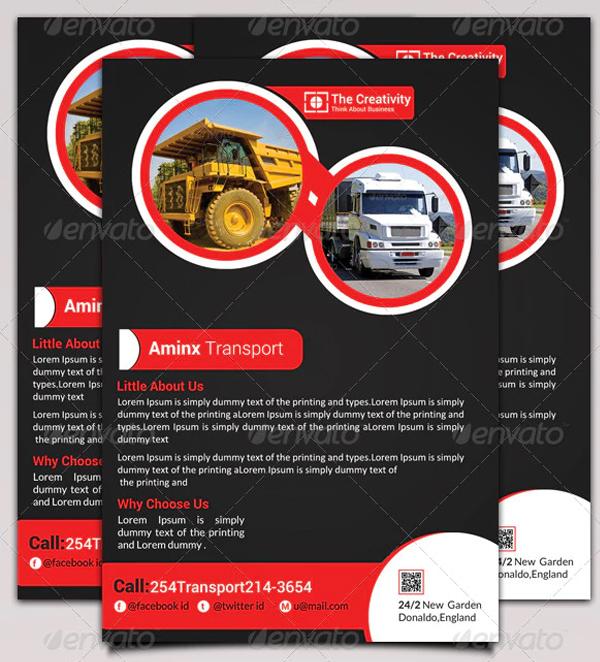 Transport Business Flyer Editable Template