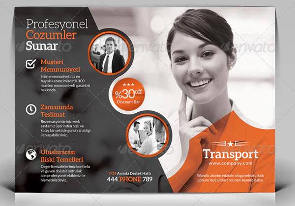 Transport Flyer Printable Template