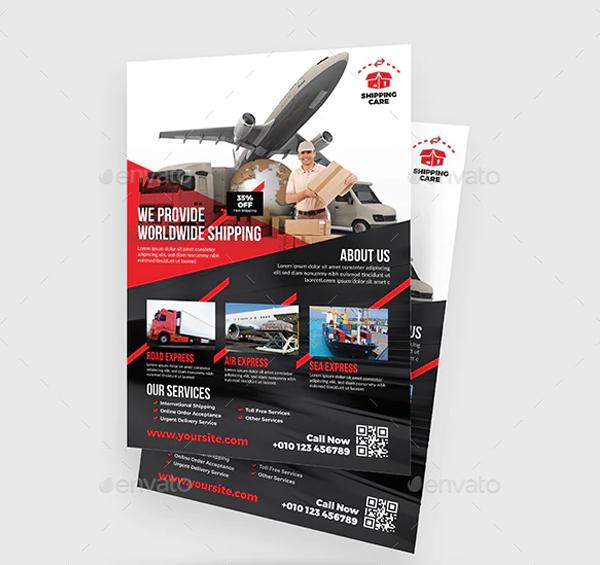 Transport Marketing Flyer Template